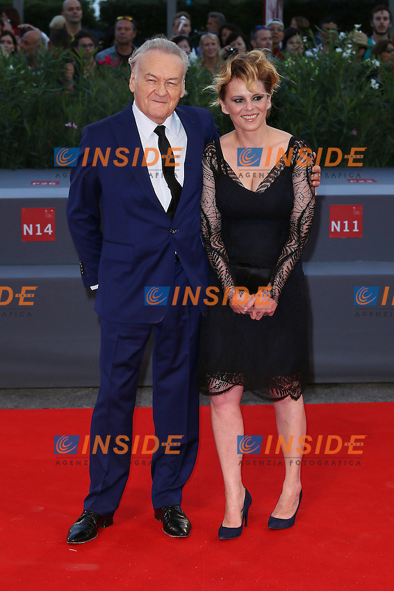 VENICE, ITALY - SEPTEMBER 09: Jerzy Skolimowski and his wife attend '11 Minutes' Premiere during 72nd Venice Film Festival at Palazzo Del Cinema on September 9, 2015 in Venice, Italy. (Mark Cape/insidefoto)