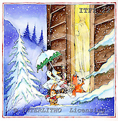 Fabrizio, Comics, CHRISTMAS SANTA, SNOWMAN, paintings, ITFZ22,#x# Weihnachten, Navidad, illustrations, pinturas
