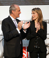 Princess Letizia of Spain attends the 'El Barco de Vapor' literature awards in the presence of the Chairman of the Editorial SM Javier Cortes.April 9, 2013.(ALTERPHOTOS/Acero) /NortePhoto