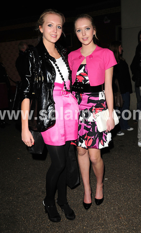 **ALL ROUND PICTURES FROM SOLARPIX.COM**.**WORLDWIDE SYNDICATION RIGHTS**.Departures from the Elle Style Awards.  Held at the Westway Sports Centre, London. 12th February 2008...This pic: Sam and Amanda Marchant..JOB REF: 5775 SSD     DATE: 12_02_2008.**MUST CREDIT SOLARPIX.COM OR DOUBLE FEE WILL BE CHARGED* *UNDER NO CIRCUMSTANCES IS THIS IMAGE TO BE REPRODUCED FOR ANY ONLINE EDITION WITHOUT PRIOR PERMISSION*