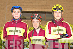 RIDERS: Member's of the West Clare Cycling Club at the Chain Gang Challenge at the CBS the Green, Tralee on Saturday l-r: Brian O'Shea, Dillan Tubeidy and Jack O'Shea.