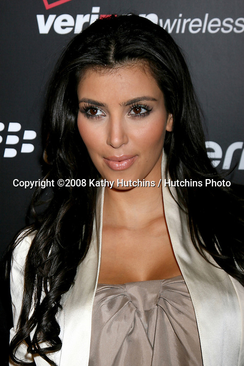 Kim Kardashian arriving at the Launch party for the Blackberry 8330 Pink Curve at Intermix in  Los Angeles, CA on.August 27, 2008.©2008 Kathy Hutchins / Hutchins Photo....