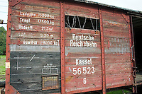 Radegast Station railcar where 200,000 Jews and gypsies rode to Auschwitz and other death camps.  Lodz Central Poland