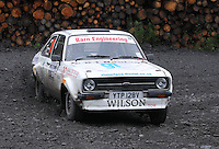 David Wilson / Dave Robson at Junction 9 on Craignell, Special Stage 1 of the Ian Broll Merrick Stages Rally 2012, Round 7 of the RAC MSA Scotish Rally Championship which was organised by Machars Car Club and Scottish Sporting Car Club and based in Wigtown on 1.9.12.