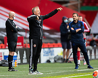 Sheffield United manager Chris Wilder shouts instructions to his team from the technical area<br /> <br /> Photographer Alex Dodd/CameraSport<br /> <br /> The Premier League - Sheffield United v Chelsea - Saturday 11th July 2020 - Bramall Lane - Sheffield<br /> <br /> World Copyright © 2020 CameraSport. All rights reserved. 43 Linden Ave. Countesthorpe. Leicester. England. LE8 5PG - Tel: +44 (0) 116 277 4147 - admin@camerasport.com - www.camerasport.com