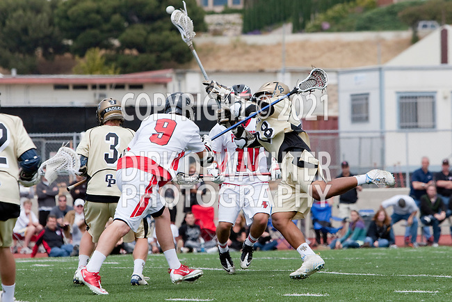 Palos Verdes, CA 05/07/11 - Jake Macer (Palos Verdes #10) and Noboru Kobashigawa (Oak Park #28) in action during the CIF Southern Section North Division Semifinal game between Oak Park and Palos Verdes.