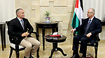 Palestinian Prime minister, Rami Hamadallah, meets with Nikolay Mladenov, United Nations Special Coordinator for the Middle East Peace Process, in the West Bank city of Ramallah,on October 16, 2017. Photo by Prime Minister Office