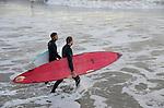 Santa Barbara, CA.  Sandspit surfing.  Frank Balthis Photography