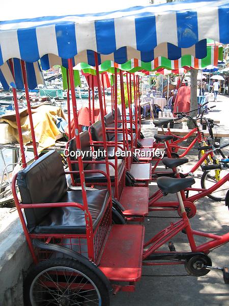 Rickshaws in Cheung Chau