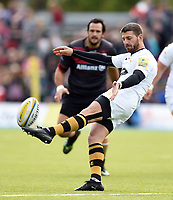 Willie Le Roux of Wasps puts boot to ball. Aviva Premiership match, between Saracens and Wasps on October 8, 2017 at Allianz Park in London, England. Photo by: Patrick Khachfe / JMP