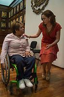 Querétaro, Qro. 6 de marzo.- La Presidente del Patronato del Sistema Estatal DIF, Karina Castro durante la rueda de prensa informó sobre la elección del Sistema Nacional DIF y La Comisión Nacional de Cultura Física y Deporte (CONADE) han elegido el estado de Querétaro como sede de los XLIII Juegos Nacionales Deportivos sobre silla de ruedas. El evento se llevrá a cabo del 13 al 15 de abril.