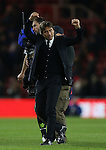 Antonio Conte manager of Chelsea celebrates the win during the English Premier League match at the Riverside Stadium, Middlesbrough. Picture date: November 20th, 2016. Pic Simon Bellis/Sportimage