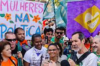 SÃO PAULO, SP, 29.09.2019 - PROTESTO-SP - Eduardo Jorge (Rede) durante protesto contra o candidato Jair Bolsonaro do PSL à presidência do Brasil no protesto Mulheres contra Bolsonaro, no Largo da Batata, região Oeste de São Paulo neste sábado, 29. (Foto: Anderson Lira/Brazil Photo Press)