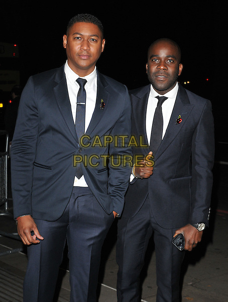 Rickie Haywood Williams &amp; Melvin Odoom attend the Music Industry Trusts Award 2015, Grosvenor House Hotel, Park Lane, London, England, UK, on Monday 02 November 2015. <br /> CAP/CAN<br /> &copy;Can Nguyen/Capital Pictures