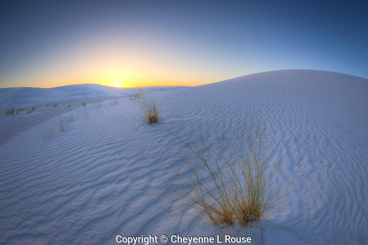 Daylight comes to White Sands - New Mexico