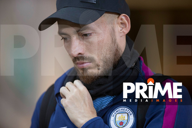 David Silva of Manchester City arrives for the EPL - Premier League match between Swansea City and Manchester City at the Liberty Stadium, Swansea, Wales on 13 December 2017. Photo by Mark  Hawkins / PRiME Media Images.