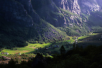 Morning light on Lysebotn, Rogaland, Norway, 2011