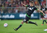 FUSSBALL   1. BUNDESLIGA   SAISON 2012/2013  5. SPIELTAG  26.09.2012 SC Freiburg - SV Werder Bremen Nils Petersen (SV Werder Bremen) am Ball