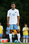 30 August 2013: North Carolina's Raby George (SWE). The University of North Carolina Tar Heels hosted the Monmouth University Hawks at Fetzer Field in Chapel Hill, NC in a 2013 NCAA Division I Men's Soccer match. UNC won the game 1-0 in two overtimes.