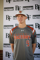 Bobby Witt Jr. (9) of Colleyville Heritage High School in Colleyville, Texas during the Baseball Factory All-America Pre-Season Tournament, powered by Under Armour, on January 12, 2018 at Sloan Park Complex in Mesa, Arizona.  (Zachary Lucy/Four Seam Images)
