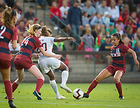 STANFORD, CA - August 30, 2019: Catarina Macario at Maloney Field at Laird Q. Cagan Stadium. The Cardinal defeated the University of Pennsylvania Quakers 5-1.