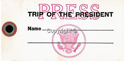 White House Press bag tag for Presidential trips, Fine Art Photography by Ron Bennett, Fine Art, Fine Art photography, Art Photography, Copyright RonBennettPhotography.com ©