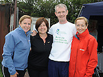 Peter Fay pictured with Grace McCullen Beamore road, Barbara Gray Mornington and Karen Quinn Julianstown during his Memorial Miles walk in aid of Cystic Fibrosis. Photo: www.pressphotos.ie