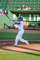 Deion Ulmer (3) of the Ogden Raptors at bat against the Idaho Falls Chukars in Pioneer League action at Lindquist Field on June 23, 2015 in Ogden, Utah.Idaho Falls beat the Raptors 9-6. (Stephen Smith/Four Seam Images)