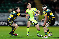 Mike Haley of Sale Sharks in possession. Aviva Premiership match, between Northampton Saints and Sale Sharks on December 23, 2016 at Franklin's Gardens in Northampton, England. Photo by: Patrick Khachfe / JMP