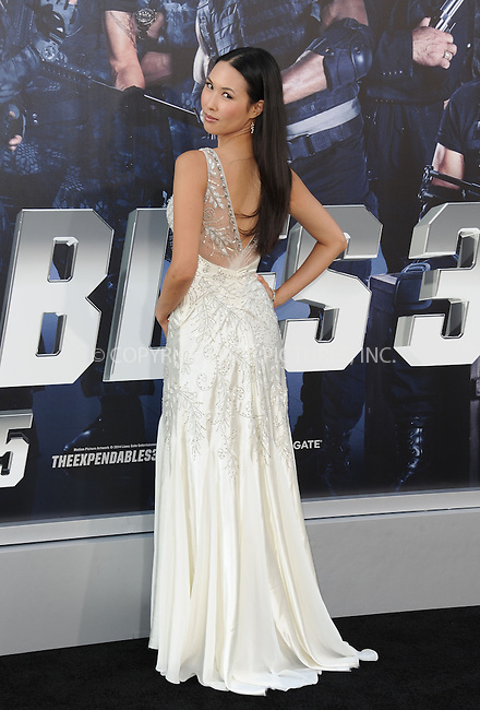 ACEPIXS.COM<br /> <br /> August 11 2014, LA<br /> <br /> Malana Lea arriving at the premiere of  'The Expendables 3' at the TCL Chinese Theatre on August 11, 2014 in Hollywood, California.<br /> <br /> <br /> By Line: Peter West/ACE Pictures<br /> <br /> ACE Pictures, Inc.<br /> www.acepixs.com<br /> Email: info@acepixs.com<br /> Tel: 646 769 0430