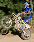 September 8, 2008 - Schuyler Sutton rides a wheelie on his dirt bike near his home in Shermans Dale, PA