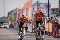"Jan-Willem Van Schip (NED/Roompot-Nederlandse Loterij) finishing 5th<br /> <br /> Antwerp Port Epic 2018 (formerly ""Schaal Sels"")<br /> One Day Race:  Antwerp > Antwerp (207 km; of which 32km are cobbles & 30km is gravel/off-road!)"