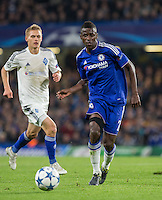 Ramires of Chelsea plays a pass during the UEFA Champions League Group G match between Chelsea and Dynamo Kyiv at Stamford Bridge, London, England on 4 November 2015. Photo by Andy Rowland.