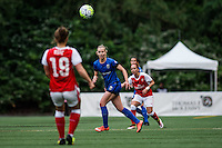Seattle, WA - Thursday, May 26, 2016: Seattle Reign FC midfielder Beverly Yanez (17). The Seattle Reign FC of the National Women's Soccer League (NWSL) and the Arsenal Ladies FC of the Women's Super League (FA WSL) played to a 1-1 tie during an international friendly at Memorial Stadium.