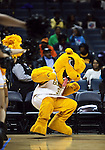 Charlotte NC - A mascott dances on the court at the CIAA tournament.