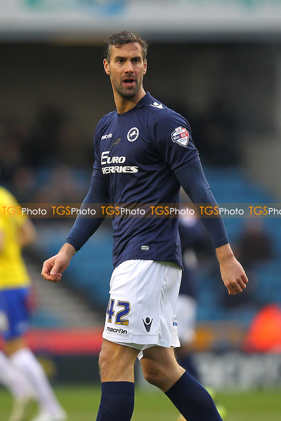 Stefan Maierhofer of Millwall - Millwall vs Huddersfield Town - Sky Bet Championship Football at the New Den, Bermondsey, London  - 07/02/15 - MANDATORY CREDIT: Gavin Ellis/TGSPHOTO - Self billing applies where appropriate - contact@tgsphoto.co.uk - NO UNPAID USE