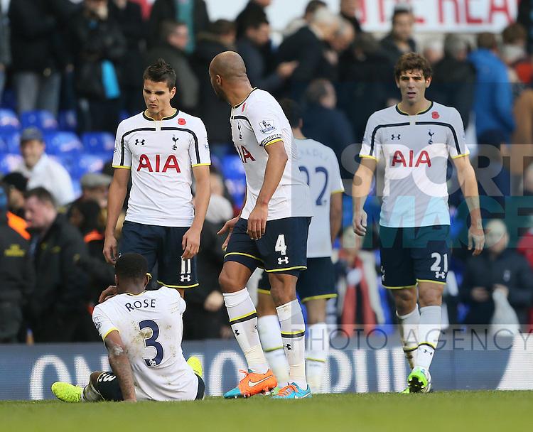 Tottenham's Erik Lamela looks on dejected at the final whistle<br /> <br /> - Barclays Premier League - Tottenham Hotspur vs Stoke City- White Hart Lane - London - England - 9th November 2014  - Picture David Klein/Sportimage