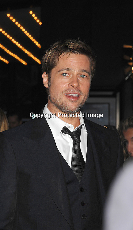 "Brad Pitt..arriving at The US Premiere of""The Assassination of Jesse ..James by the Coward Robert Ford"" on September 18, 2007 at The Ziegfeld Theatre in New York. ..Robin Platzer, Twin Images....212-935-0770"