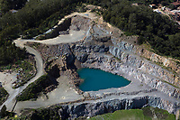 aerial photograph Dutra Rock Quarry, San Rafael, Marin County, California