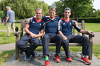 Caversham, Nr Reading, Berkshire.<br /> <br /> left to right. Peter CHAMBERS, Alan CAMPBELL and Richard CHAMBERS, Olympic Rowing Team Announcement  Press conference at the RRM. Henley.<br /> <br /> Thursday  09.06.2016<br /> <br /> [Mandatory Credit: Peter SPURRIER/Intersport Images]
