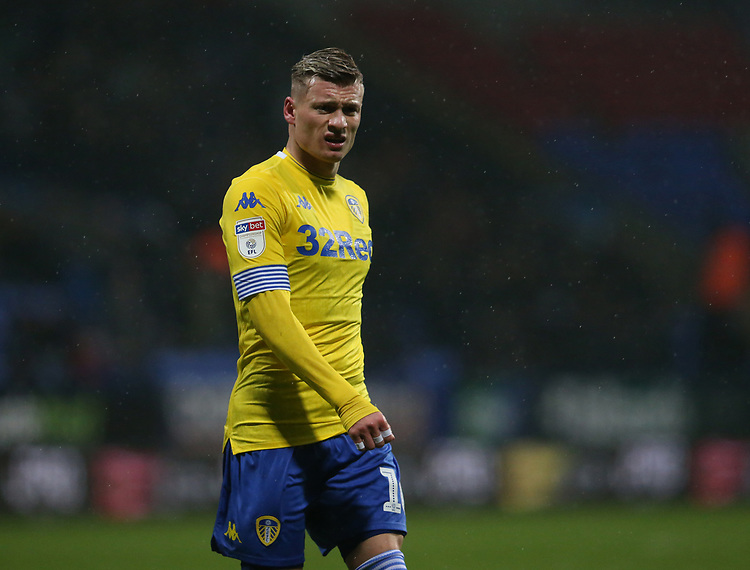 Leeds United's Ezgjan Alioski<br /> <br /> Photographer Stephen White/CameraSport<br /> <br /> The EFL Sky Bet Championship - Bolton Wanderers v Leeds United - Saturday 15th December 2018 - University of Bolton Stadium - Bolton<br /> <br /> World Copyright © 2018 CameraSport. All rights reserved. 43 Linden Ave. Countesthorpe. Leicester. England. LE8 5PG - Tel: +44 (0) 116 277 4147 - admin@camerasport.com - www.camerasport.com