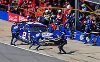Apr 26, 2009; Talladega, AL, USA; NASCAR Sprint Cup Series driver Kurt Busch pits during the Aarons 499 at Talladega Superspeedway. Mandatory Credit: Mark J. Rebilas-