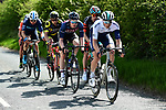 The breakaway group in action during Stage 1 of the Tour de Yorkshire 2018 running 182km from Beverley to Doncaster, England. 3rd May 2018.<br /> Picture: ASO/Alex Broadway | Cyclefile<br /> <br /> <br /> All photos usage must carry mandatory copyright credit (&copy; Cyclefile | ASO/Alex Broadway)