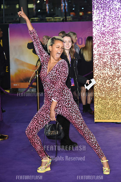 "LONDON, UK. October 23, 2018: Gemma Cairnney at the world premiere of ""Bohemian Rhapsody"" at Wembley Arena, London.<br /> Picture: Steve Vas/Featureflash"