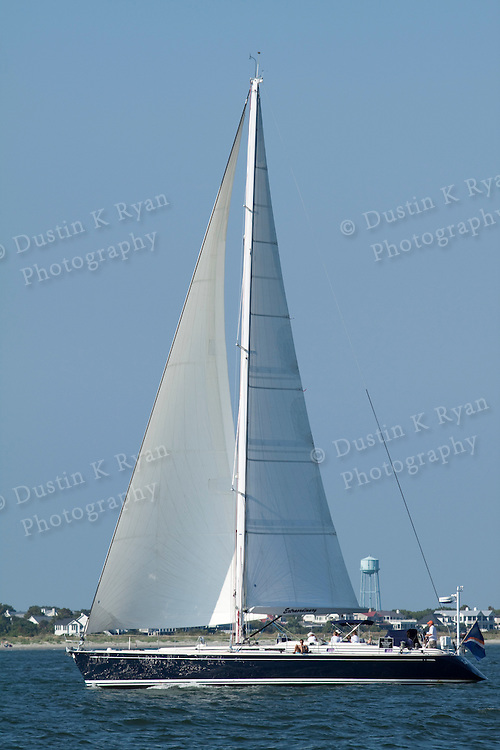 60ft sailboat extraordinary sailing in the Charleston Harbor Nautor Swan