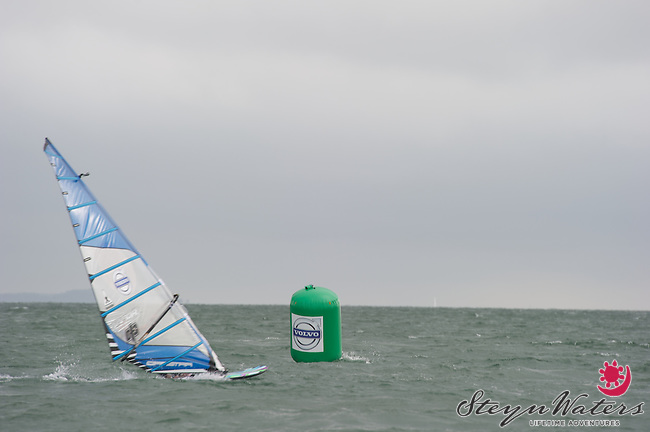 Nick Dempsey in the Volvo speed challenge, Cowes 2013