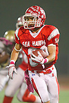 Redondo Beach, CA 10/14/11 - Erik Brown (Redondo Union #30) in action during the Peninsula vs Redondo Union varsity football game.
