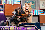 LOS ANGELES - April 13:  Comedian, actress, writer, television host, and producer Chelsea Handler and her dog Tammy at her home in Los Angeles, California on Wednesday, April 13, 2016. (Photo by Brinson+Banks)