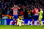 Rodrigo Cascante of Atletico de Madrid (L) reacts during the La Liga 2018-19 match between Atletico Madrid and FC Barcelona at Wanda Metropolitano on November 24 2018 in Madrid, Spain. Photo by Diego Souto / Power Sport Images