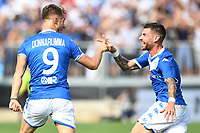 Celebration after a goal of Alfredo Donnarumma <br /> Brescia 15/09/2019 Stadio Mario Rigamonti <br /> Football Serie A 2019/2020 <br /> Brescia Calcio - Bologna FC <br /> Photo Image Sport / Insidefoto